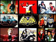 Batman, Catwoman, Batbike, Batmobile Adam West '60's TV Series Sticker or Magnet
