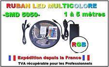 Ruban led RGB smd5050 de 1 à 5 m, seul ou kit complet avec télécommande