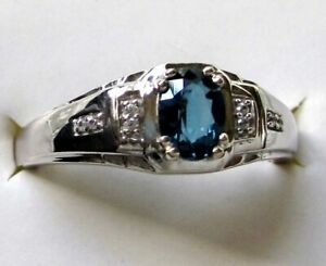 Engagement Rings Mens Zircon Ring,Sterling Silver Ring Gift for Him \u0130deas Black Gemstone Jewelry for Men