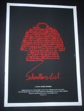 SCHLINDER'S LIST Original Signed Cuban Screen-printed Movie Tribute Poster CUBA