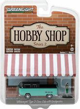 Greenlight 1/64 The Hobby Shop Series 2 Volkswagen Type 2 Crw Cab w/ Fig 97020-F