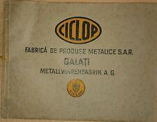 Katalog Fa. Ciclop Galati Rumänien um 1930 Schaufeln Pferdestriegel Beschläge...