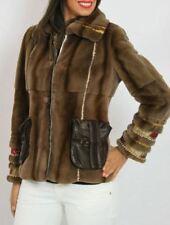 Visone rasato pelliccia moderna giaccone Pelz Nerz Fabulous mink Coat as New