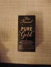 Too Faced Pure Gold Ultra Fine Face & Body Glitter Highlighter - With Real Gold!