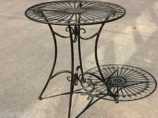 FRENCH DESIGN garden coffee breakfast TABLE outdoor wrought iron quality SUPERB