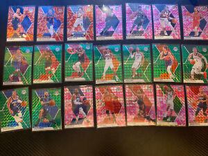 2020 NBA Mosiac 22 Card Lot!! 3 Orange, 9 Pink and 10 Green