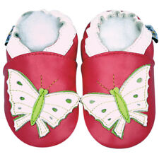Soft Sole Leather Baby Infant Kid ButterflyFuchsia infant kid child Shoes 18-24M