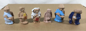 Vtg Lot: E.T. The Extra-Terrestrial Small Plastic PVC Figures Collectibles 1982