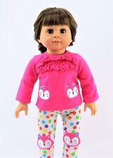 "Pink Fox Polka Dot Pant Set Fits 18"" American Girl Doll Clothes"