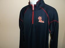 Ole Miss Rebels One Quarter Zip Pullover Adult XL nwt Free Ship