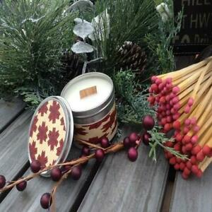 Cinnamon Wood Wick Soy Candle