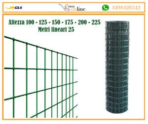 RETE METALLICA PLASTIFICATA ELETTROSALDATA PER RECINZIONE MAGLIA 50X75 2.5