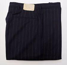 NEW Ralph Lauren RRL DOUBLE RL Navy Striped Wool Trouser Dress Pants 36