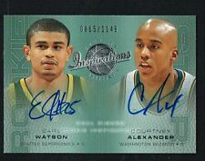 Earl Watson & Courtney Alexander 2002 UD Inspirations signed autograph auto Card