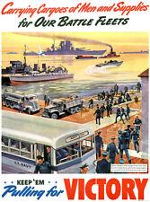 Carrying Cargoes Men Supplies - Keep 'Em - 1940 - World War II Propaganda Poster