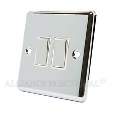 Polished Mirror Chrome Classical 2 Gang Switch -10 Amp CPC2GSWIWC