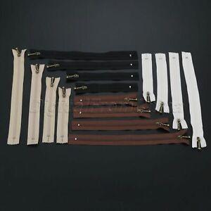 1Pc 12/15/20/25cm Metal Nylon Zipper Close End Zip DIY Jacket Coat Bag Sewing