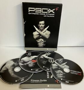 P90X PLUS EXTREME HOME FITNESS WORKOUT 4 DVD SET EXERCISE GYM TRAINER RUN NEW