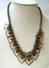 "Beaded Chain 18"" Necklace! 3552P Stunning Vintage Estate Gold Tone"