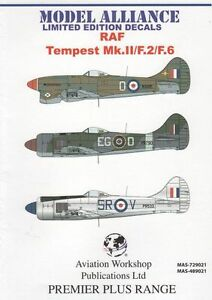 Model Alliance 1/72 Hawker Tempest Mk.II/F.2/F.6 Post War # 729021