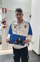 Foto Autografo Calcio Davide Bettella Pescara Asta Beneficenza Soccer Coa Signed