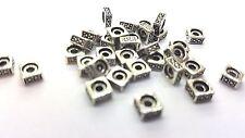 50 PC tibetano plata granos del Metal-a0231