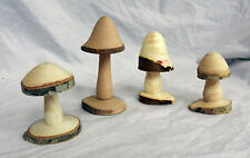 Carved Wooden Magic Mushroom from the Mountains of Wales