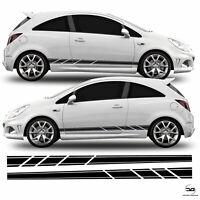 Lower Vinyl Side Stripes For Vauxhall Corsa D VXR SRI MK4 Racing Decal Stickers