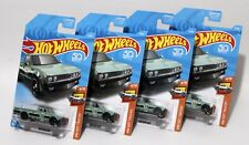 DATSUN 620 * LOT OF 4 * 2018 HOT WHEELS * GREEN JAPANESE NOSTALGIC CAR LOGO JNC
