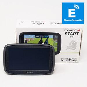 """TomTom Start 50 - 5"""" SAT NAV Lifetime Maps EU UK ROI - Grade D - Boxed - Faulty"""