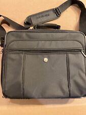 Targus Laptop Computer Brief Case Bag Black Padded Carry On Shoulder Strap