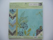 K&CO 36 SHEETS 12X12 DOUBLE SIDE SUSAN WRIGHT BIRDS DRAGENFLY FLORAL NEW