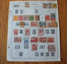 M21 Lot of Australia Stamps on 6 Minkus Album binder Pages