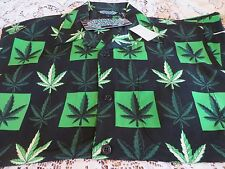 SILVER POINT  Medical CANNIBAS MARIJUANA LEAF SHIRT CAMP NOVELTY NEW Medium DF
