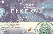 RARE / TICKET DE CONCERT - PINK FLOYD LIVE A LYON ( FRANCE ) 1994