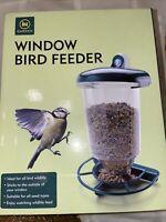 Clear Viewing Window Bird Seed Feeder for Garden Wild Birds
