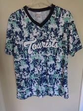 SGA MiLB Asheville Tourists Promo Digital Camo Pullover Baseball Jersey Men XL