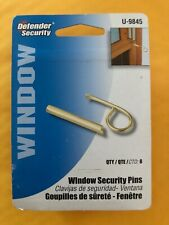 Defender Security Wood Window Security Pins with Remover Keys
