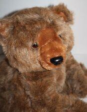 "Vtg 1987 R Dakin GRIZZLY BEAR Big 20"" Stuffed Animal Brown Plush Soft Toy Korea"