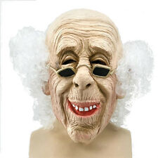 Adult # old man loft rubber mask + Hair Halloween Costume