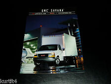 2004 GMC Savana Cargo Cube Commercial Van sales brochure dealer literature