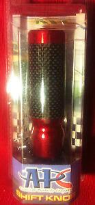 APC RED CARBON FIBER SHIFT KNOB HONDA UNIVERSAL MANUAL TRANS MT HONDA VW CRX NEW