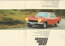Publicité Advertising 1969 (Double page)  COUPE FIAT 124