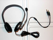 Logitech H110 Stereo Headset Noise Cancelling Boom Microphone Chat Gaming PC MAC