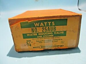 """NEW WATTS 25AUB WATER REDUCING VALVE AND STRAINER SIZE 3/4"""" INCH"""