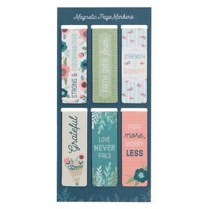 Magnetic Bookmarkers, Floral Garden Bookmarker Set