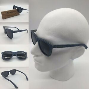Men's Ebony Wood & Denim Frame Smoke TAC Polarized Sunglasses