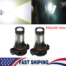2x 2504 LED Fog Light bulb PSX24W 100W White DRL For Chrysler Subaru Jeep Dodge