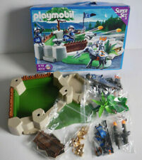PLAYMOBIL SUPERSET KNIGHTS 4014 CASTLE STRONGHOLD FORT TREASURE HORSE
