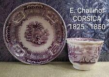 Antique E. Challinor Mulberry / Purple Corsica - Berry Bowl & Htf Waste Bowl